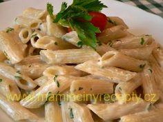 Penne se sýrovou omáčkou Penne, Bon Appetit, Pasta Recipes, Cabbage, Soup, Yummy Food, Baking, Vegetables, Delicious Food