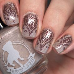 Nail Polish Society>> UberChic Beauty Mandala Love and Wild West 02 Stamping Plate Review