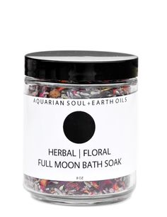 Full Moon Bath Soak with Epsom Salt, French Lavender, Hibiscus, and Red Rose Petals | Leif