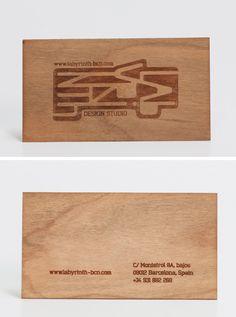 Business Cards (Material: Pine Wood). / Визитки из Дерева ••• #Business #Cards
