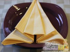 Fancy napkin folding ideas for the holidays airplane