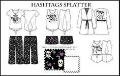 Hashtags Splatter