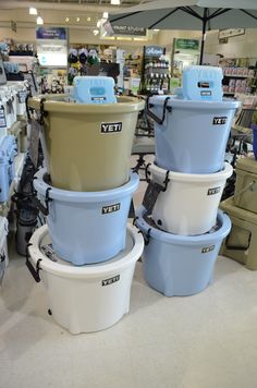 The Yeti Tank is perfect for parties and cookouts. We carry it in the 45 and 85 quart sizes! Come by and check out this awesome Yeti product. Insulated Coffee Mugs, School Car, Yeti Cooler, House Accessories, Visual Display, Water Bottles, Coolers, Display Ideas, Starbucks