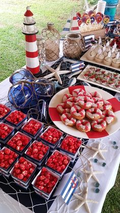 Nautical Sailor Dessert Table