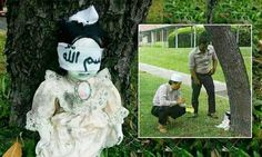 'Possessed' child's doll terrifying Singapore after it was found blindfolded by the side of the road