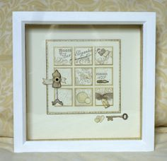 8 x 8 frame Stampin Up established Elegance stamp set