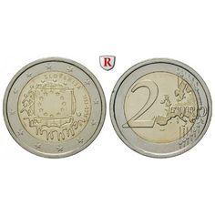 Slowenien, 2 Euro 2015, bfr.: 2 Euro 2015. Europaflagge. bankfrisch 5,00€ #coins