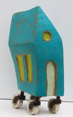 Rob Matthews | Leslie Guinan Concrete, encaustic, found objects www.hiddenspringdesigns.com