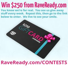 Rave clothing for kandi kids and festival fashionistas around the world! With a huge selection you'll find your complete rave outfit with all the LED gloves, hydration bags, pasties, booty shorts and accessories that you need to rage and recover. Rave Ready, 1000 Gifts, Edm Festival, Asdf, Raves, Rave Outfits, Gift Certificates, Giveaway