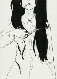 http://www.hairstyles-haircuts.com/ | Sólo amaba dos cosas. La primer era su largo pelo negro. La segunda lo fácil que era cortarlo y no sentir nada.