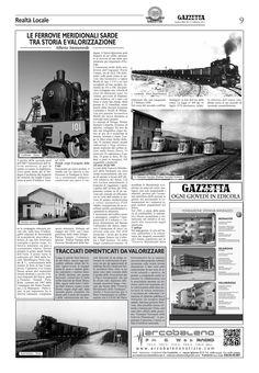 """La Gazzetta del Sulcis. n.662. 13 febbraio 2014. Alberto Monteverde. """"Le Ferrovie Meridionali Sarde. Tra storia e valorizzazione""""."""