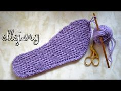 How to crochet a shoe sole | Crochet by Ellej | Вязание крючком от Елены Кожухарь