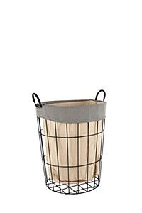 TWO TONE WIRE LAUNDRY BASKET Wire Laundry Basket, Wicker, Bathroom Remodeling, Spring, Decor, Decoration, Decorating, Bath Remodel, Bathroom Renovations