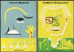 Archiportrait: ilustrações arquitetônicas   Frederico Babina   bim.bon #illustration #architecture #niemeyer