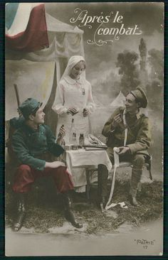 """"""" After the Battle."""" French WW1 Postcard."""