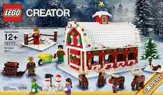 "Reindeer Barn ""set"" by 6kyubi6 on Flickr.  LOVE that christmas tree in the corner! Village Lego, Lego Christmas Village, Lego Winter Village, Christmas Tree, Lego Display, Lego Store, Lego Creator, Lego Friends, Lego Sets"