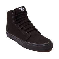 Classic vulcanized skate kick from Vans that's perfect for both skating and everyday wear. Hi-top canvas upper, padded collar, vulcanized waffle outsole.