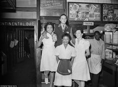 Image result for 1950s italian coffee shop[ waitress