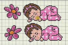 ponto cruz bebe - Pesquisa Google Beaded Cross Stitch, Cross Stitch Baby, Cross Stitch Charts, Cross Patterns, Beading Patterns, Crochet Patterns, Baby Dyi, Bobble Stitch, Happy Baby