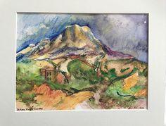 Mont Sainte Victoire by Bethany Ramey Trombley Watercolor ~  x