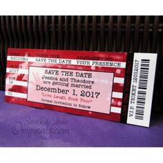 Shop Concert Ticket Wedding Save The Date Magnets created by savethedateoriginals. Music Wedding Invitations, Wedding Music, Save The Date Magnets, Save The Date Cards, Wedding Events, Wedding Ideas, Weddings, Fall Wedding, Wedding Inspiration