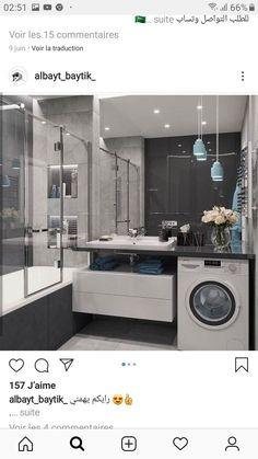Ideas Bathroom Storage Shower Mirror For 2019 Ada Bathroom, Laundry In Bathroom, Bathroom Layout, Bathroom Storage, Bathroom Interior, Modern Bathroom, Small Laundry, Mirror Bathroom, Laundry Room Design