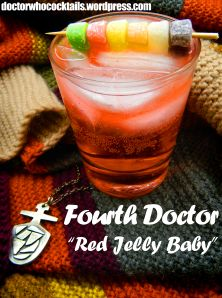 "The Fourth Doctor -- ""Red Jelly Baby""  More at DoctorWhoCocktails.Wordpress.com!"