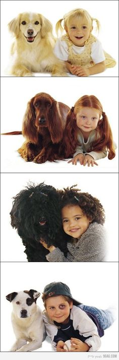 Kids and their dogs! *Note the last one*