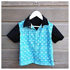 Boys retro bowling shirt / hipster shirt / by LittleFieldBirch