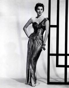 "Ava Gardner in a ""Sorelle Fontana dress""  Uploaded By  www.1stand2ndtimearound.etsy.com"
