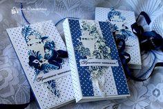 Шоколадницы Интернет-магазин товаров для скрапбукинга ScrapMan: Вдохновение от Оксаны Раманцевой. Сине-белое трио.