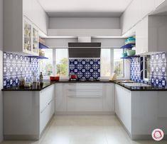 Blue patterned Moroc