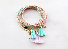 Boho Star Tassel Bracelet Seed beads Friendship bracelet