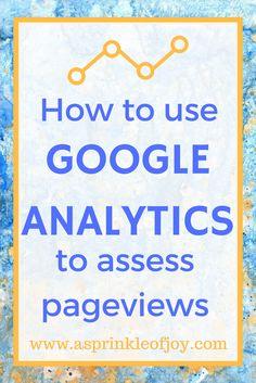 Although I am not a blogging guru, I do like to share what I do know. I wanted to show how I use Google Analytics to assess pageviews.