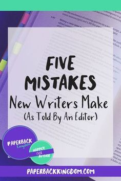 (Five Mistakes New Writers Make // Paperback Kingdom) When it comes to writing, there aren't many hard rules. It's a creative endeavour, and there are many ways to accomplish a single goal. But the missteps below aren't myths—they're very real—and they're especially prevalent in manuscripts by budding wordsmiths. Knowledge is power, so let's break down five major mistakes newbie writers make. Writer Tips, Book Writing Tips, Writing Process, Writing Resources, Writing Help, Writing Skills, Editing Writing, Creative Writing Jobs, Writers Notebook