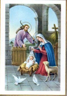 212 Sacra Famiglia Maria, Giuseppe, Gesù  Santino Holycard - EUR 1,00. immagine-stampa santino come da foto formato 5,5 x 8 COME DA FOTO tracce del tempo e dell'uso 351328104530