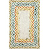 Found it at Wayfair - Capri Ethnic Pastel Border Indoor/Outdoor Area Rug 2x8 130