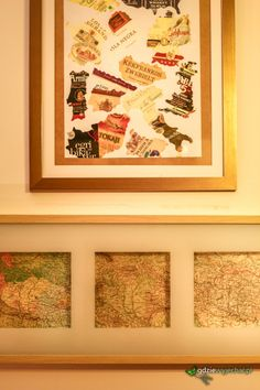 The image of the wine labels || Etykiety po winach jako obraz. Wpadliśmy na pomysł, co można zrobić z etykietami po winach. A poniżej w końcu zabezpieczone i fajnie wyglądające mapy CK Monarchii z 1908 r. || #DIY #Wine #Maps #Image ||