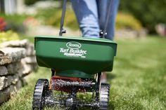 Scotts Spreader Fertilizer Seed Lawn Feed Turf Builder EdgeGuard Technology Salt…