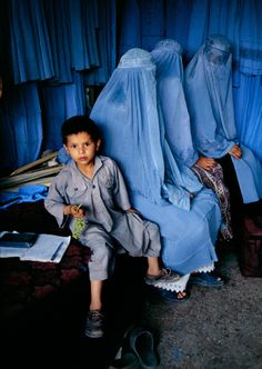 Burka Shop, Kabul, Afghanistan, by Steve McCurry