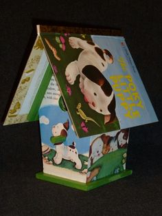 Are we going to recycle books as craft projects. In many ways this makes me very very sad because I loved this book and read it a hundred times. ADORABLE birdhouse made from repurposed 'Pokey Little Puppy' book by Little Acorn Products!