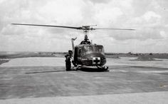 Medevac helicopter at Cu Chi, 1966