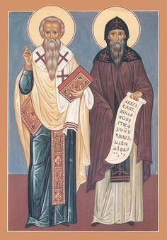 Saints Cyril and Methodius - I believe they created the written language for Old Church Slavonic and SO much more for the Byzantine Church - Eastern Rite!