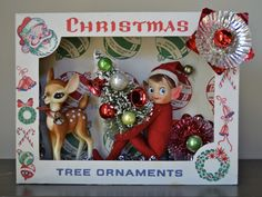 A Repurposed Christmas: Vintage Ornament Shadow Boxes :: Goody ...