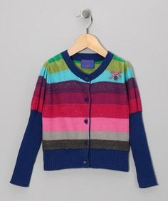 Take a look at this Rainbow Stripe Cardigan - Toddler  Girls by Mim Pi on #zulily today!