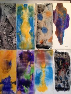 GEORGES HUGNET (1906-1974) Sans titre Gouache sur papier, certains signés et datés en bas à droite «GH+71». 38 x 15,5 cm. Ensemble d'environ 45 pièces - Thierry de Maigret - 11/03/2016