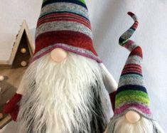 Tomte Nisse Nordic Gnome Santa Christmas decoration | Etsy