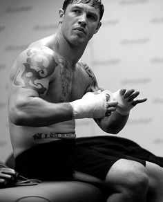 Tom Hardy - in Warrior, such an awesome movie. More about father, sons, and brothers, that just happens to have a lot of cool fighting scenes.