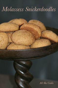 Molasses Snickerdoodle Cookies- Light and chewy