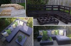 DIY pallet patio furniture - yep, going to make this for our deck!